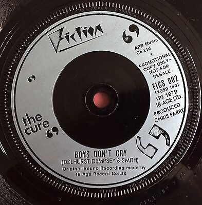 """THE CURE -Boys Don't Cry- Very Rare UK Promo only 7""""  (Vinyl Record)"""