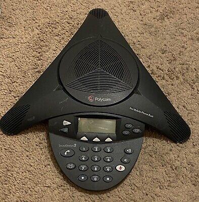 Polycom Soundstation 2 2201-16200-601 Expandable Conference Phone No Return