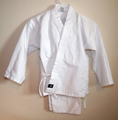 Taekwondo Karate Martial Arts White Uniform Child Size 0 (6-8) Costume Halloween