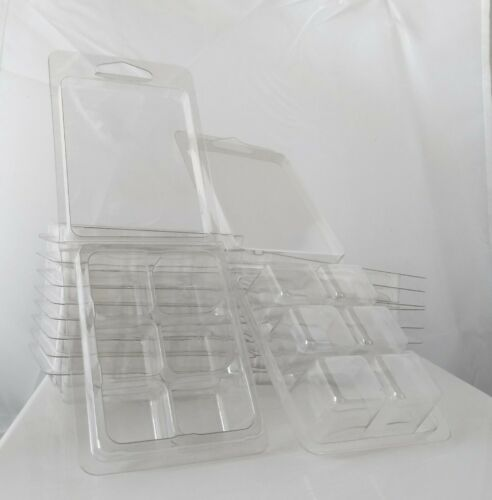 High Quality - PET Wax Melt Molds - 100 Pack - Clear - 6 Cav