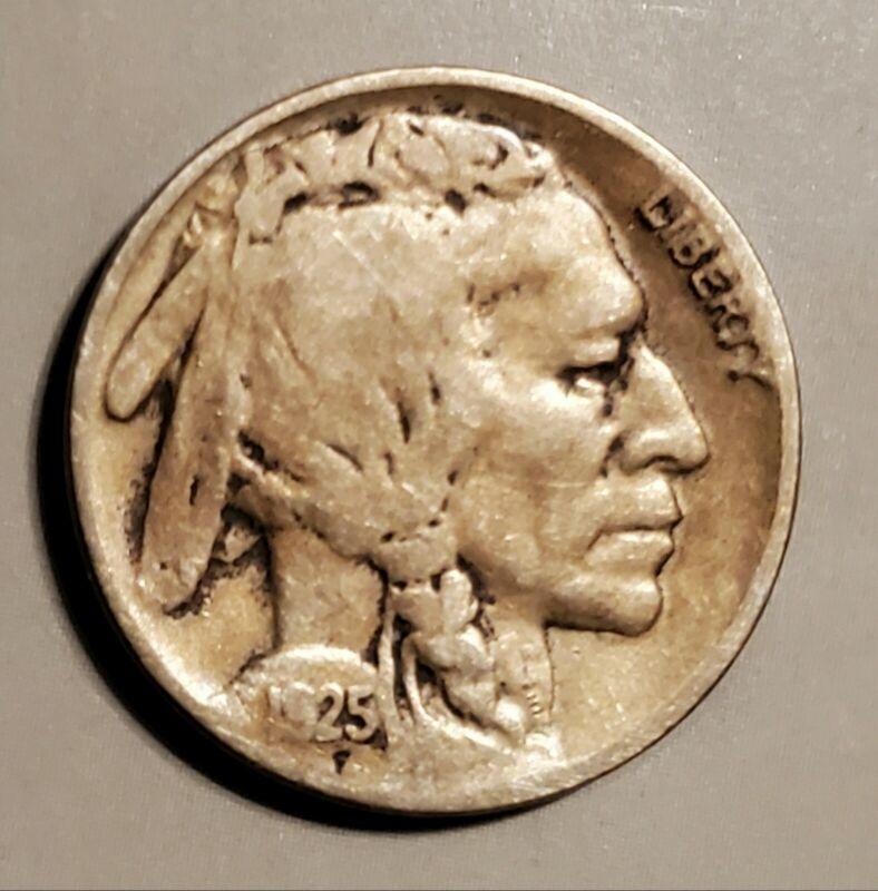 Very Good 1925-S Buffalo Nickel - Half a Horn on this Bargain Priced Buffalo