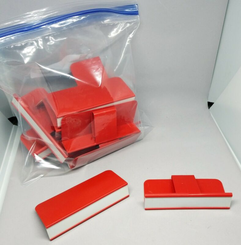 """Shelf Label Holders Plastic (lot of 12) 1"""" H x 5"""" W x 2 1/4"""" D Used in Bookstore"""