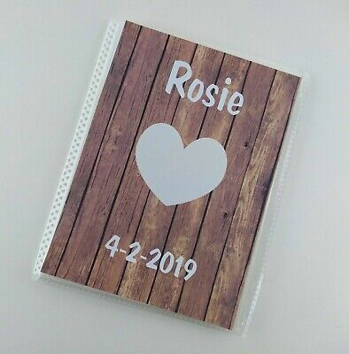 Boy Girl Photo Album 4x6 5x7 Picture Personalized NAME Baby Gift Heart -