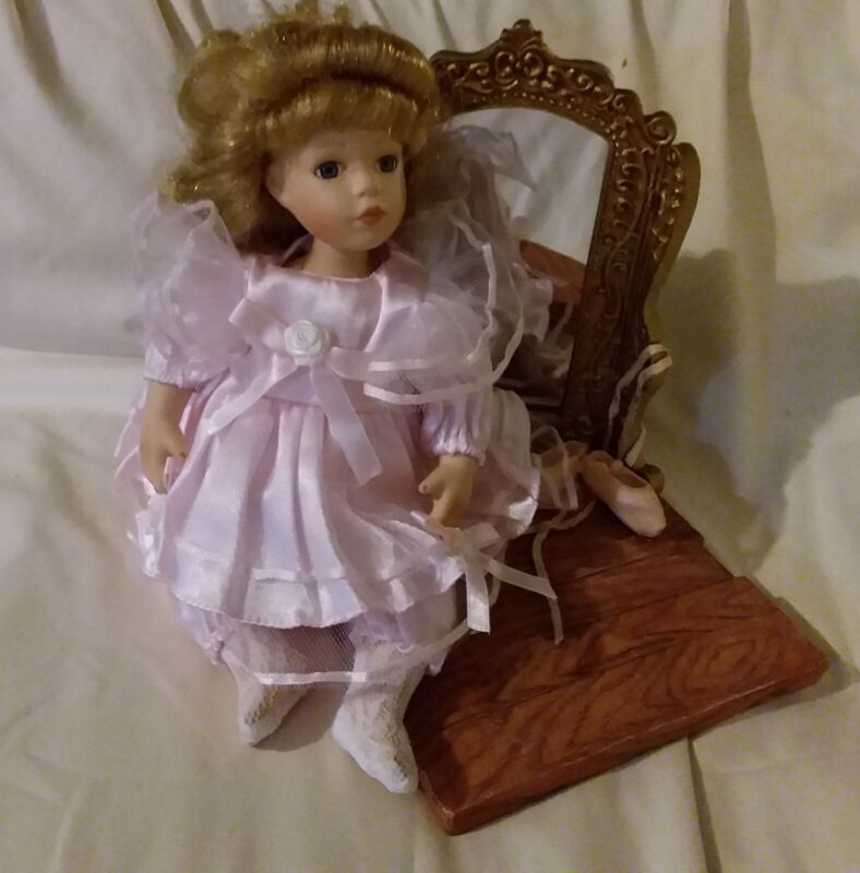 Pink Ballerina 12 Inch Doll With Mirror Free Shipping