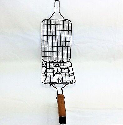 Burger Grilling Basket - Slider Grilling Basket Holds 6 Mini Burger Patties Non-Stick Mr. Bar-b-q 06606
