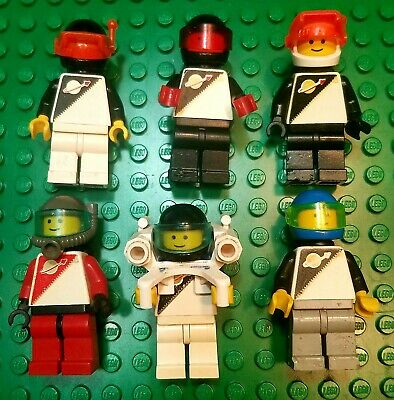 Lego Vintage Space Men Minifigures Set of 6
