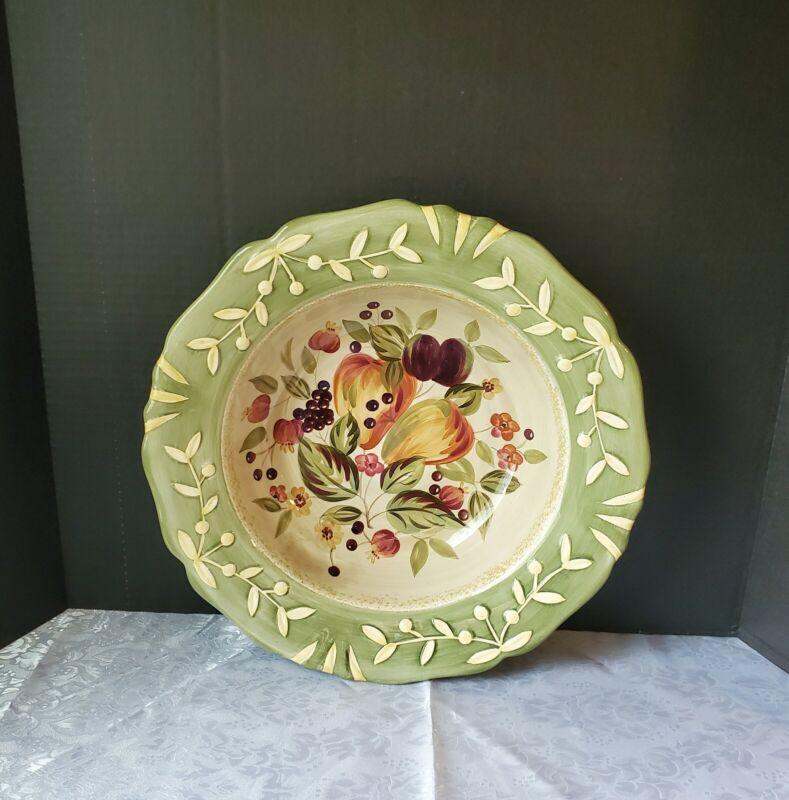 """Certified International La Toscana Large 15"""" Pasta/Salad Serving Bowl"""