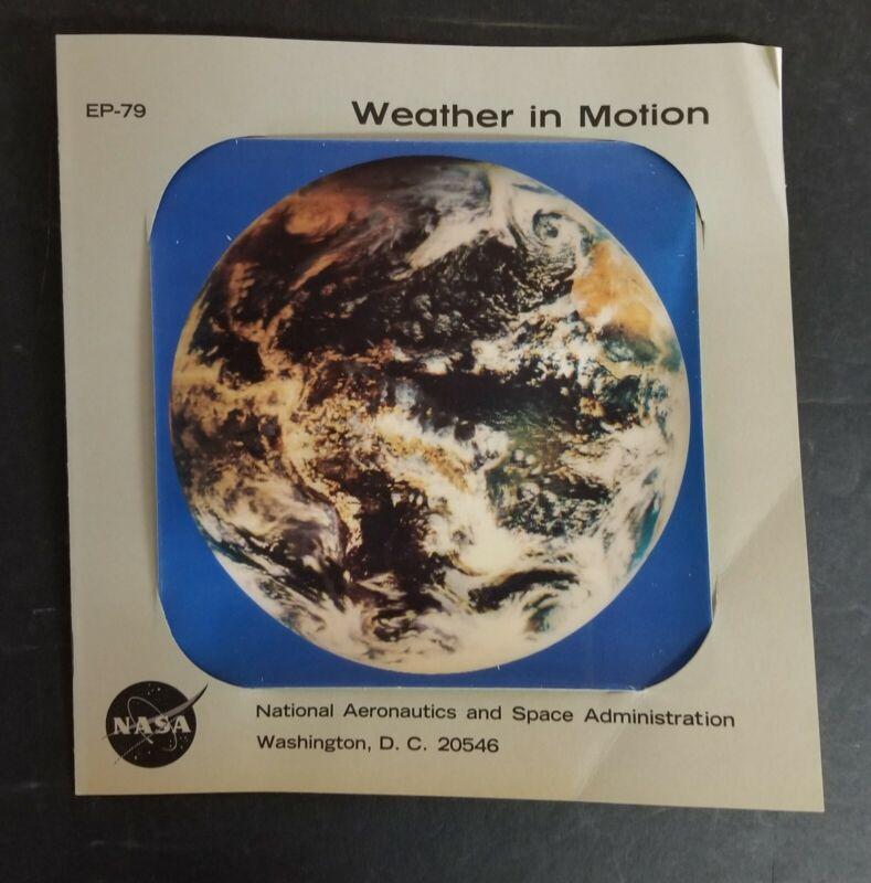 NASA ATLAS (ATS-III) 1967 WEATHER in MOTION EP-79 SATELLITE/EARTH 3D PHOTO-INFO
