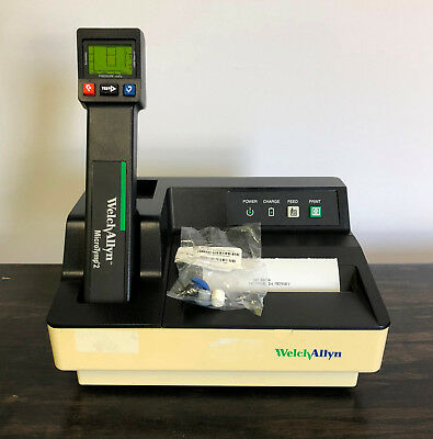 Welch Allyn Microtymp 2 Tympanometer 23640 71170 Printer Charger Micro Tymp