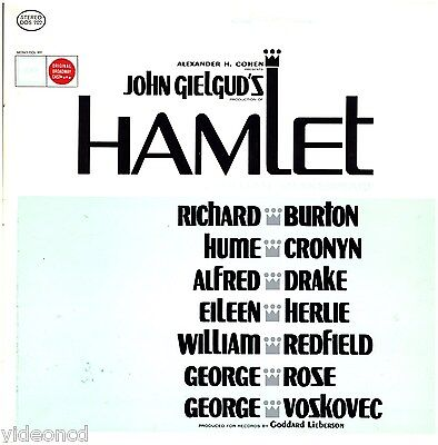John Gielgud's HAMLET Richard Burton COLUMBIA STEREO BOX with LIBRETTO LP RECORD
