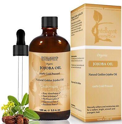 Jojoba Oil Golden 100% Cold Pressed Certified Organic Pure &