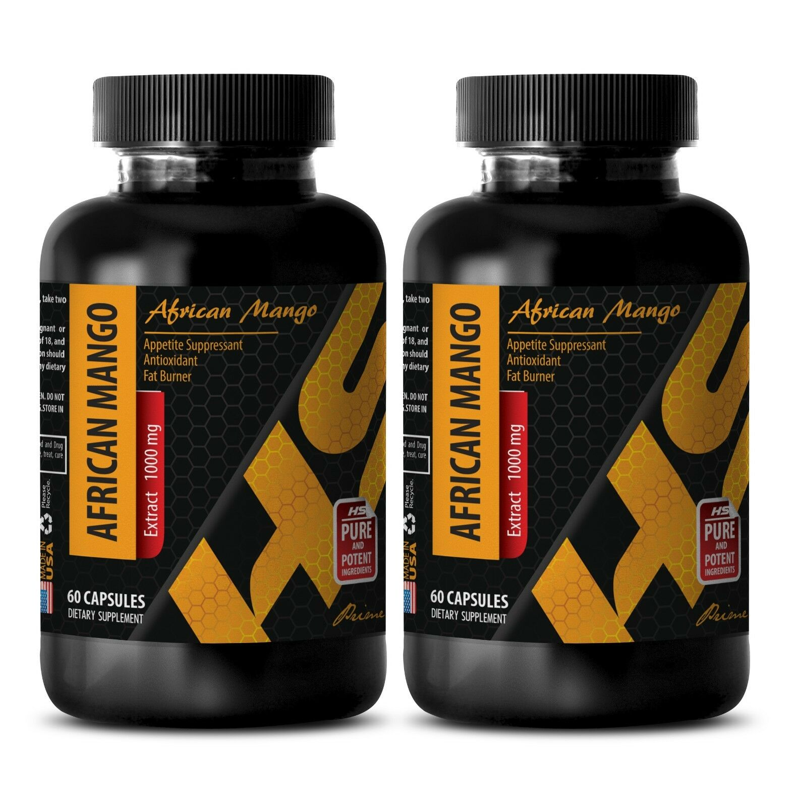 Fat burner weight loss - PURE AFRICAN MANGO EXTRACT 1000mg 2 Bottles 120 Capsule
