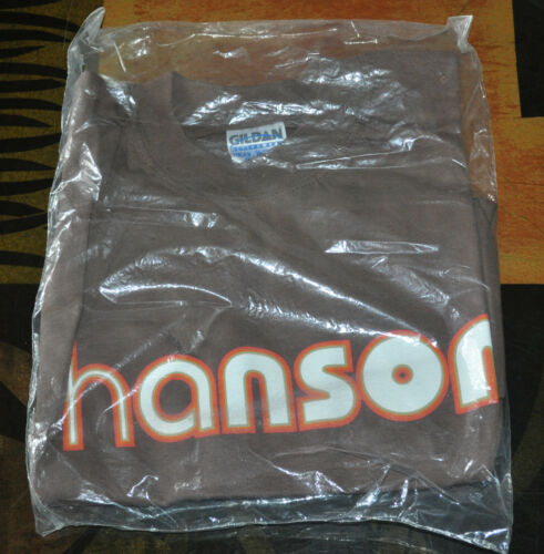 RARE BRAND NEW OFFICIAL Hanson Middle of Nowhere Brown Shirt! Size MEDIUM!