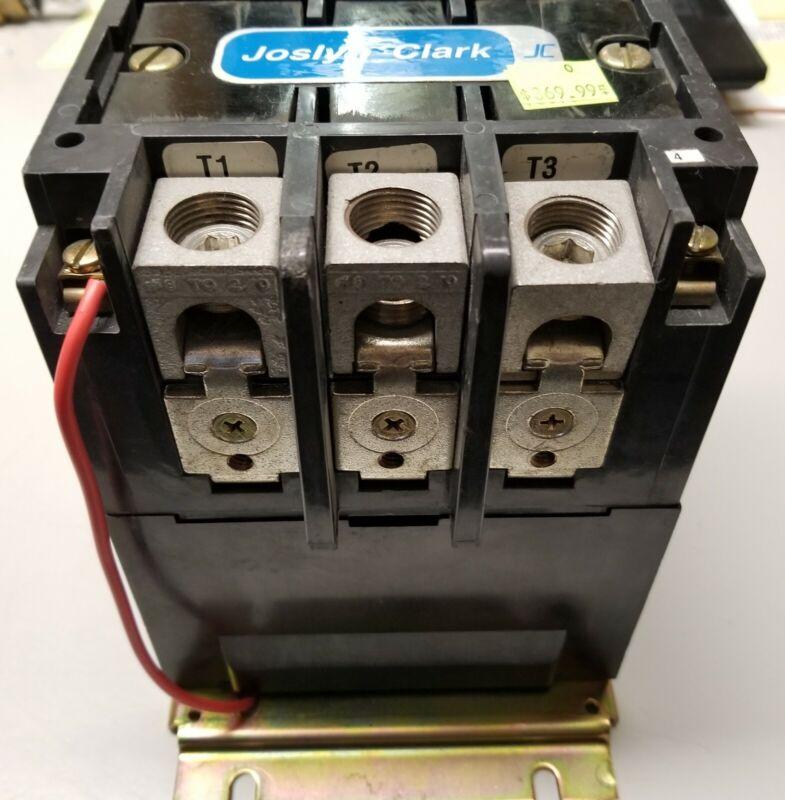 JOSLYN CLARK T77U033 (SIZE 3) 220-240VAC COIL 600V 100 Amp CONTACTOR. Brand New