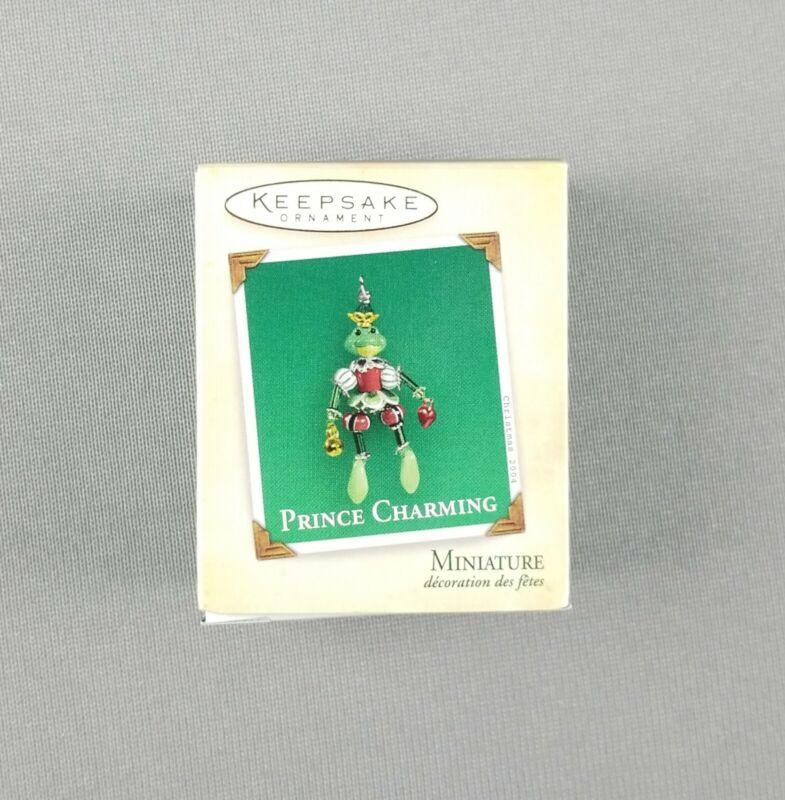 "Hallmark 2004 Keepsake Christmas Miniature Ornament ""Prince Charming"" Frog - NEW"