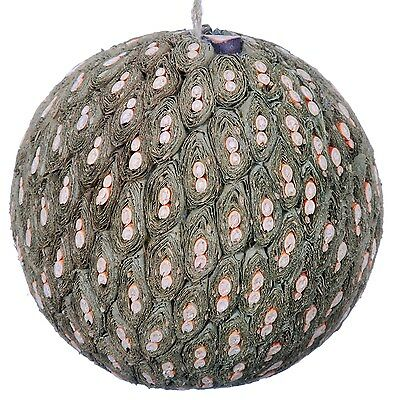 Leaf Twig Mosaic Decorative Ball Ornament Natural Green Christmas Tree New 578f