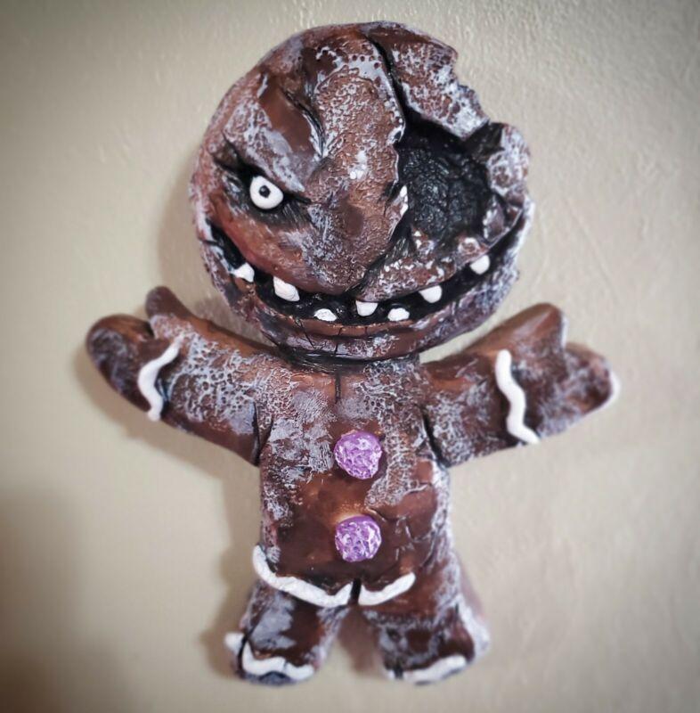 Krampus Gingerbread Man Sculpture