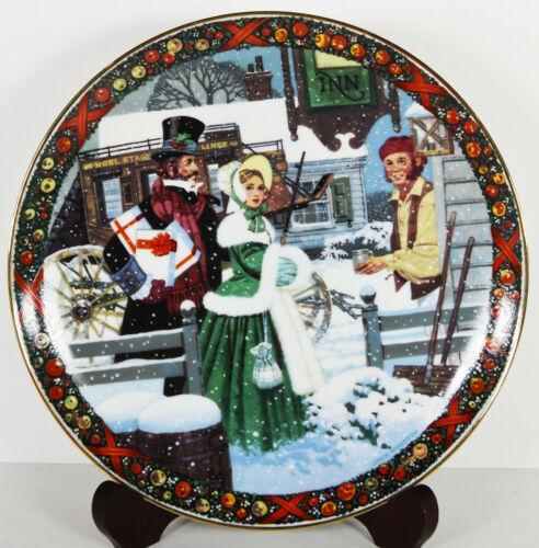 "9"" NIB 1986 Christmas Song Chestnuts Roasting Carollers Woodson Porcelain Plate"