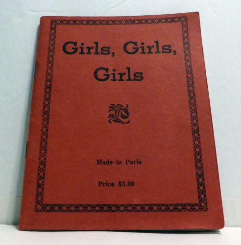 VTG. WW2 NUDE FRENCH WOMEN GIRLY SOUVENIR BOOKLET PARIS FRANCE