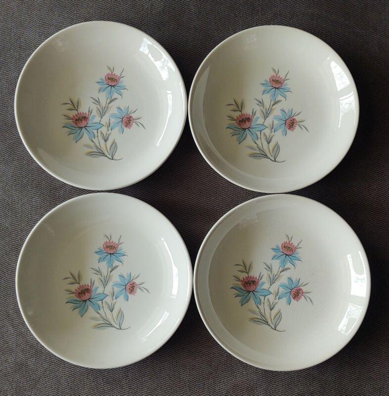 "Set of 4 Vintage Steubenville Pottery Co. Fairlane 8"" Coupe Soup Bowls USA"