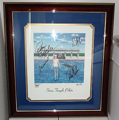 STONE TEMPLE PILOTS STP Tiny Music Litho SIGNED LP ALBUM ART SCOTT WEILAND PSA