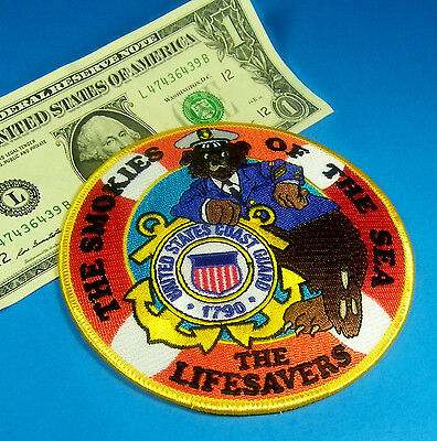 "U.S. COAST GUARD The Smokies Of The Sea  BEAR The LIFESAVERS 4 1/2"" Wide #AU"