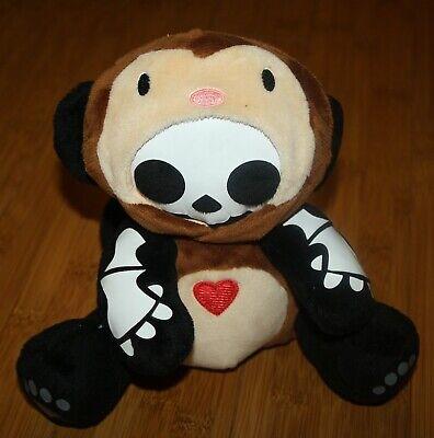 "Skelanimals MARCY in Monkey Costume Outfit 8"" Brown Plush Heart Jakks Vinyl face"