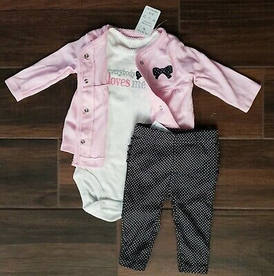 Just One You By Carters Baby Girl Pink 3 Piece Outfit Set Size 3M comprar usado  Enviando para Brazil
