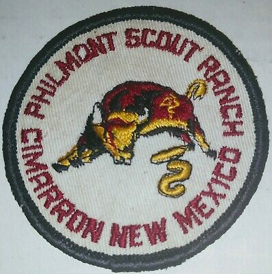 "Philmont Scout Ranch /""Bull/"" felt  Cimarron New Mexico BSA"