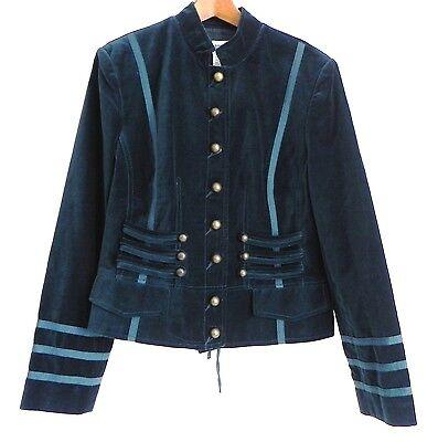 Together Velvet Jacket ( Together Velvet Jacket/ Blazer Dark Teal/Green Tone Size 12 Military)