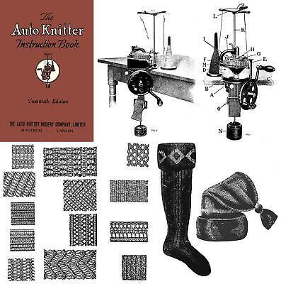 1923 Roaring 20s Flapper Auto Knitter Machine Knitting Knit Book Socks Stockings