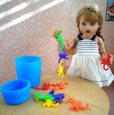 Mini Barrel of Monkeys toys for Riley Kish, Little Darling doll or Patsy Diorama