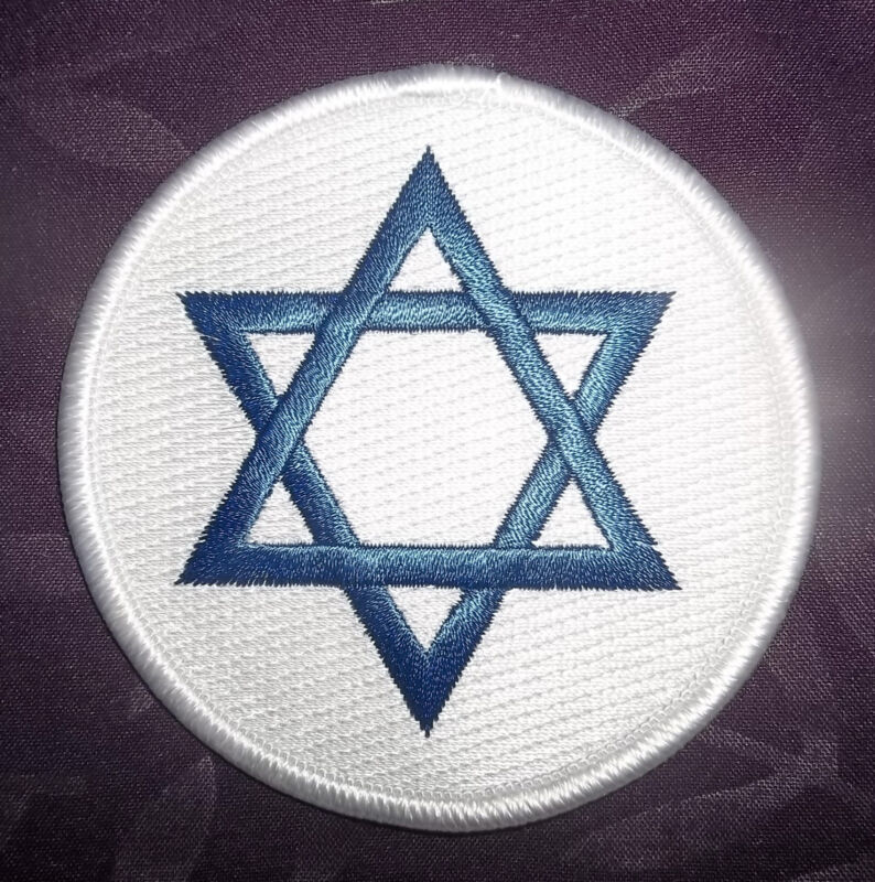ISRAEL FLAG EMBROIDERED PATCH STAR OF DAVID SEW/ IRON ON DIY