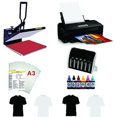 16x24 T-shirt Heat Press Machine Epson Printer 1430 Ciss Kit