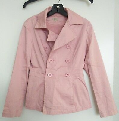 Sashimi Light Pink Girls/Womens Jacket Blazer Coat Peacoat Double - Light Pink Coat