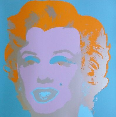 "ANDY WARHOL MARILYN MONROE SUNDAY B.MORNING Silk-screen 11.29 with COA 36""x36"""