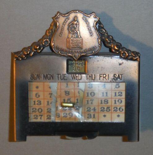 Vintage Gloucester MA Metal Perpetual Calendar Fishermen