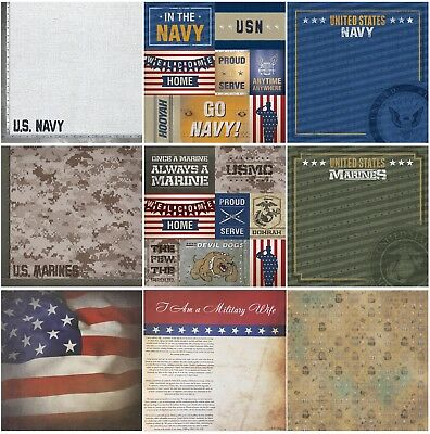 12x12 Military Scrapbook -