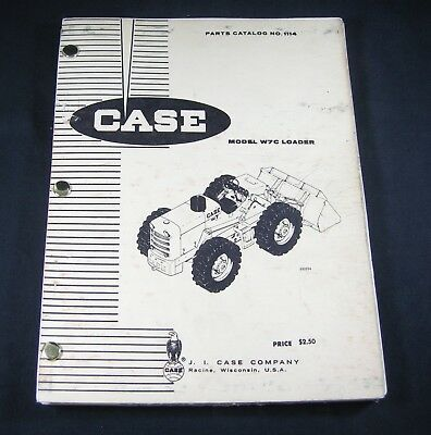 Case W7c Loader Tractor Parts Manual Book Catalog List