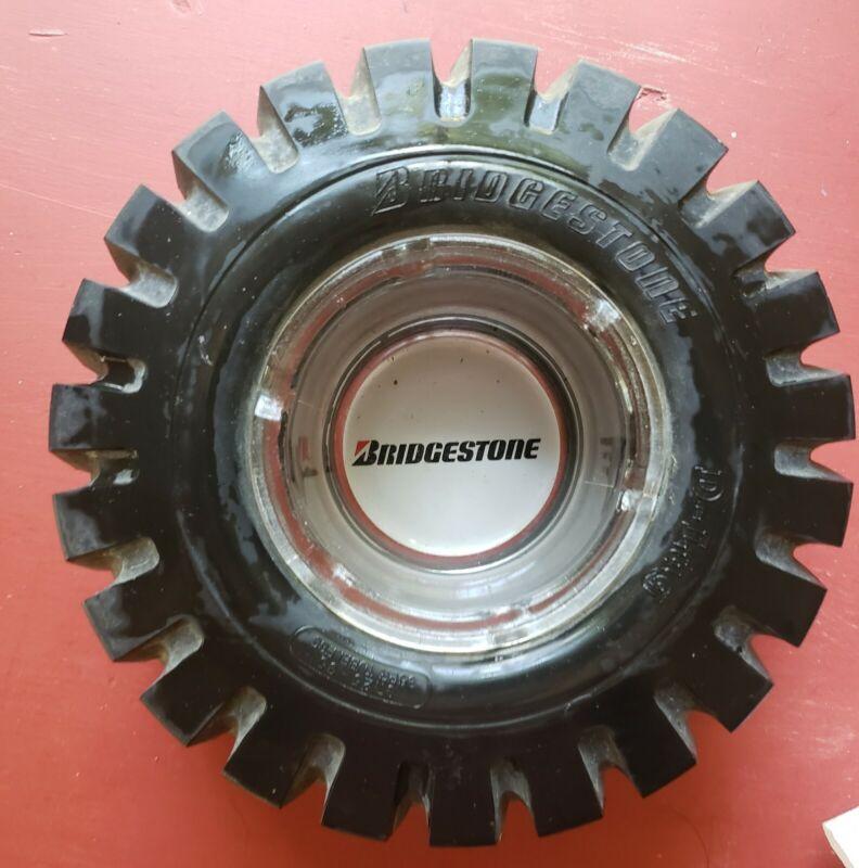 "LARGE RARE Vintage Bridgestone D-Lug COLLECTABLE Ashtray - 8.75"" X 3"""