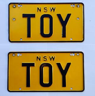 """""""TOY"""" NSW NUMBER PLATE Ryde Ryde Area Preview"""