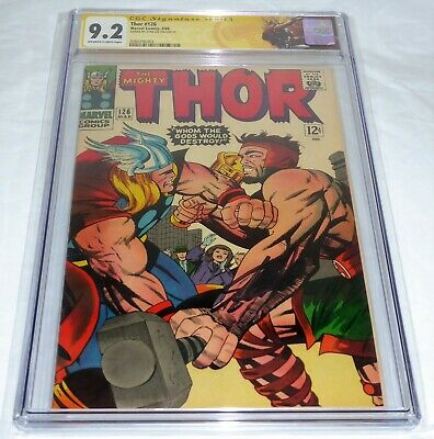 Thor #126 CGC SS Signature Autograph STAN LEE 1st Issue Thor Hercules 9.2 2nd HI
