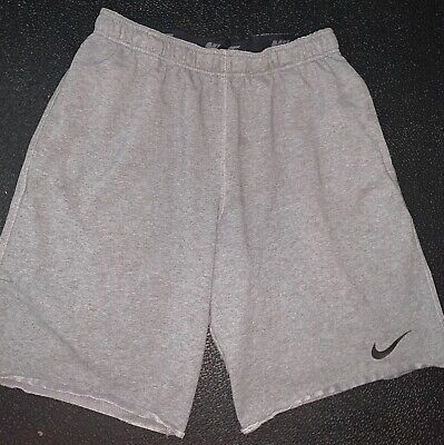 MENS NIKE DRI FIT L  GREY WORKOUT GYM SPORTS RUNNING SHORTS