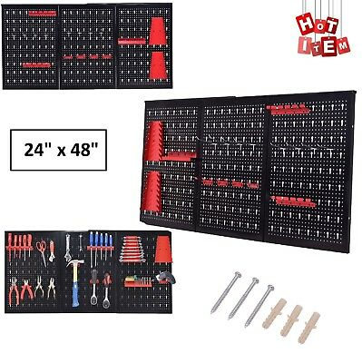 Pegboard Garage Tool Hanger Board Display Hook Pack Hanging Organizer Metal Shop