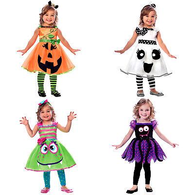 Mädchen  Kleinkinder Kostüme Süßes  Kürbis  Monster Gespenst - Kleinkind Mädchen Monster Kostüm