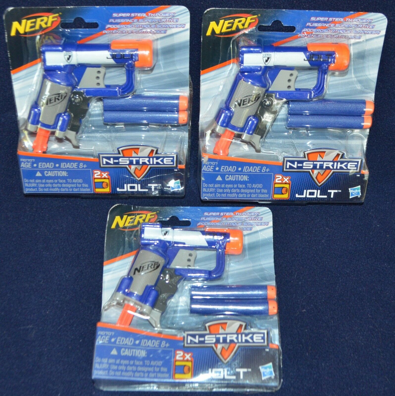 NERF N-Strike Jolt Gun darts New NIB Sealed Lot of 3 mini to