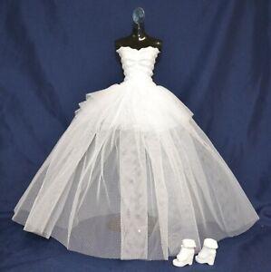 6961de673 Eledoll Wedding Dress Bridal Dress   Shoes Set for Barbie Doll Bride Fashion