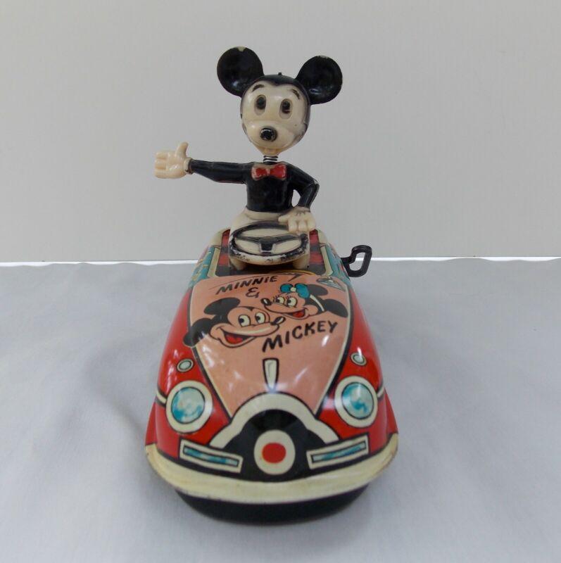 """DISNEY """"MICKEY THE DRIVER"""" (MARX) 1950"""