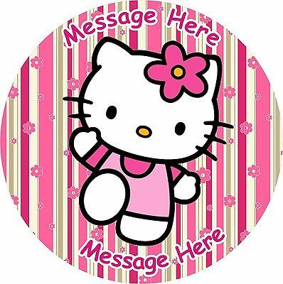 HELLO KITTY BIRTHDAY BABY SHOWER ICING CAKE TOPPER](Hello Kitty Baby Shower Cakes)