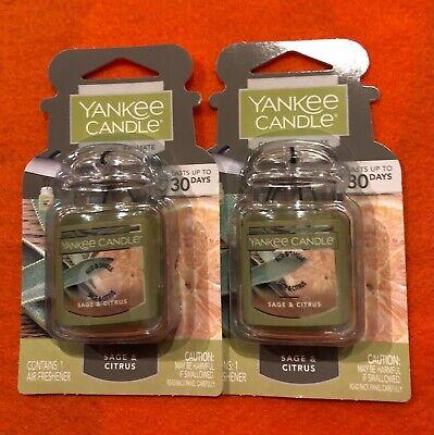 2 X Yankee Candle Gel Jar Ultimate Odor Neutralizing Air Freshener Sage & Citrus